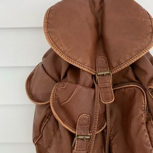 Faux leather backpack mossimo supply co